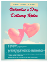 Seminole County Middle/High School  Valentine's Day Delivery Rules