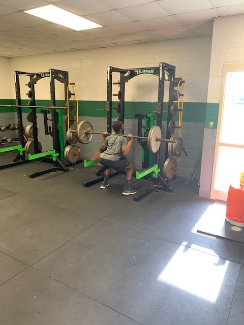 Getting stronger in the weight room!