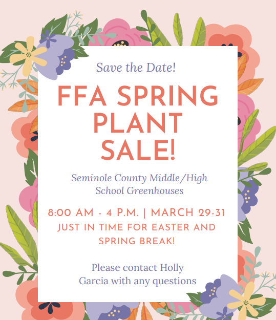 Plant Sale Coming Soon